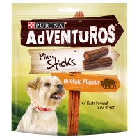 PURINA® ADVENTUROS® Mini Sticks Adult Dog Rich in Meat Buffalo flavour Chews Bag