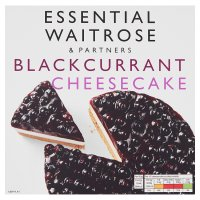 essential Waitrose frozen blackcurrant & cream cheesecake