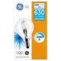 GE halogen round clear 42W E14 SES