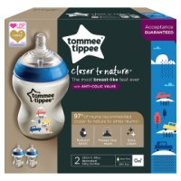 Tommy Tippee 0month+ closer to nature slow flow decorated bottles, pack of 2