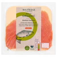 Waitrose Duchy Organic mild and delicate smoked salmon, 4 slices