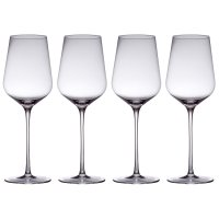 from Waitrose white wine crystal glasses, pack of 4
