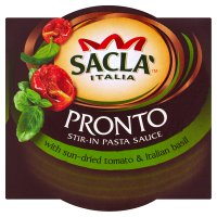Sacla' Pronto stir-in pasta sauce with sun-dried tomato & italian basil