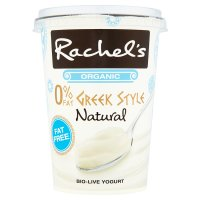 Rachel's organic Greek style natural fat free yogurt