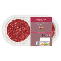 Waitrose 1 venison lightly seasoned burgers 2's