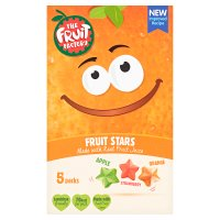 The Fruit Factory mango, strawberry & apricot fruit stars