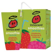 Innocent kids strawberry, blackberry and raspberry smoothie, 4x180ml