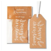 Waitrose Merry Christmas Gift Tags