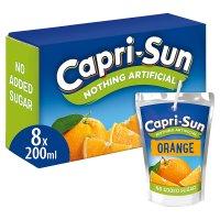 CapriSun orange no added sugar