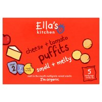 Ella's Kitchen Organic cheese and tomato puffits baby food