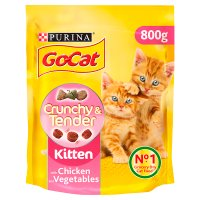 Go-Cat kitten crunchy & tender with chicken