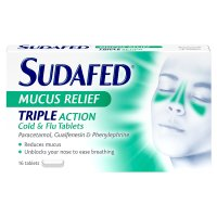 Sudafed mucus relief triple action tablet