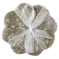 Waitrose Dining Silver Beaded Coasters