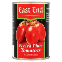 East End peeled plum tomatoes