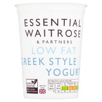 essential Waitrose low fat Greek style natural yogurt