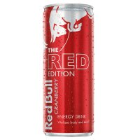 Red Bull orange edition energy drink, orange flavour