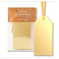Waitrose Gold Foil Luggage Gift Tags