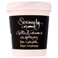 Waitrose Seriously clotted cream & raspberry ice cream