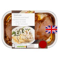 Waitrose Easy To Cook tomato & basil chicken breasts