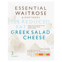 essential Waitrose Greek light salad cheese, strength 3