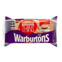 Warburtons soft seeded sandwich thins