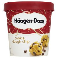 Haagen Dazs cookie dough chip ice cream