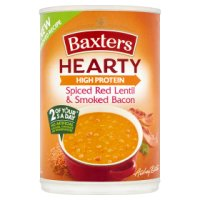 Baxters hearty red lentil & bacon