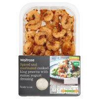 Waitrose Marinated Cooked King Prawns with Yogurt Dressing