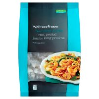 Waitrose Frozen raw peeled king prawns