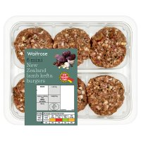 Waitrose 6 Mini New Zealand Lamb Kefta Burgers