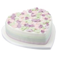 Fiona Cairns Pastel Rose Petal Celebration Cake (Chocolate)