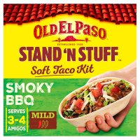 Old El Paso stand stuff BBQ taco kit