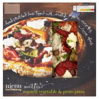 Waitrose fire roasted vegetable & pesto pizza