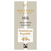 Waitrose 1 milk chocolate, 49% cocoa