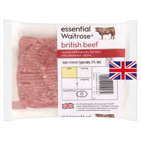essential Waitrose British beef mince