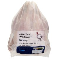 essential Waitrose frozen turkey medium with giblets
