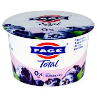 Total 0% fat free Greek yoghurt with blueberry