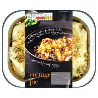 menu from Waitrose cottage pie