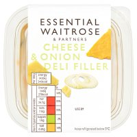 essential Waitrose cheese & onion deli filler