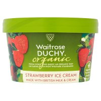 Waitrose Duchy Organic strawberry ice cream