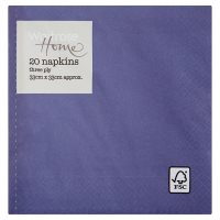 Waitrose Home Navy Napkins 33cm x 33cm