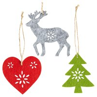 Waitrose Christmas Felt Tree Decoration