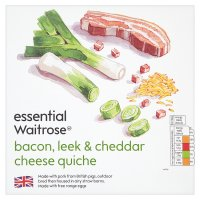 essential Waitrose bacon, leek & cheese quiche