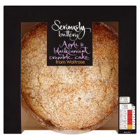 Waitrose Seriously apple & blackcurrant crumble cake