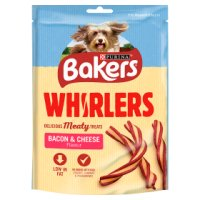 BAKERS® Whirlers Adult Dog Bacon & Cheese Treats Bag