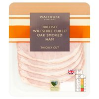 Waitrose Wilts Thick Cut Oak Smoked Ham