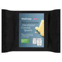 Waitrose Cornish Quartz extra mature Cheddar cheese, strength 6