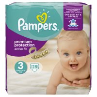 Pampers Active Fit Sz 3 Carry 29 Nappies