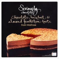Waitrose Seriously chocolatey chocolate, hazelnut & almond torte