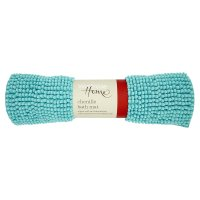 Waitrose Home Chenille Bath Mat Teal